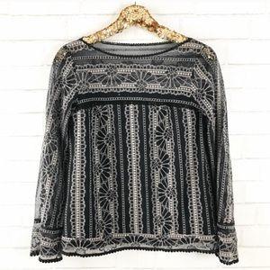 Nanette Lepore Black Lace Top